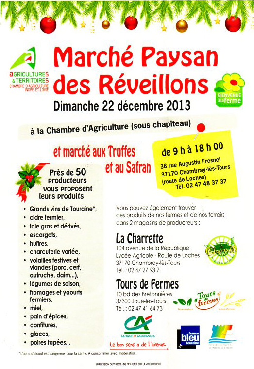 March des r veillons brasserie de l 39 aurore for Chambre d agriculture 22