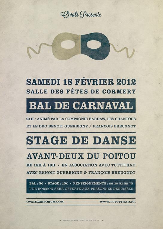 Affiche Carnaval Ovals 2012